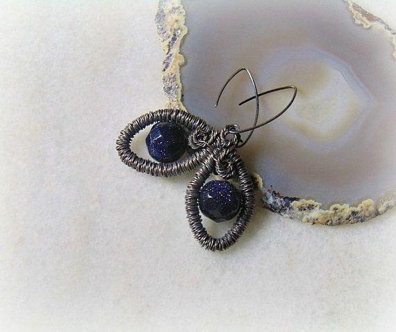 Wire wrap earrings copper wire wrapped earrings by styledonna