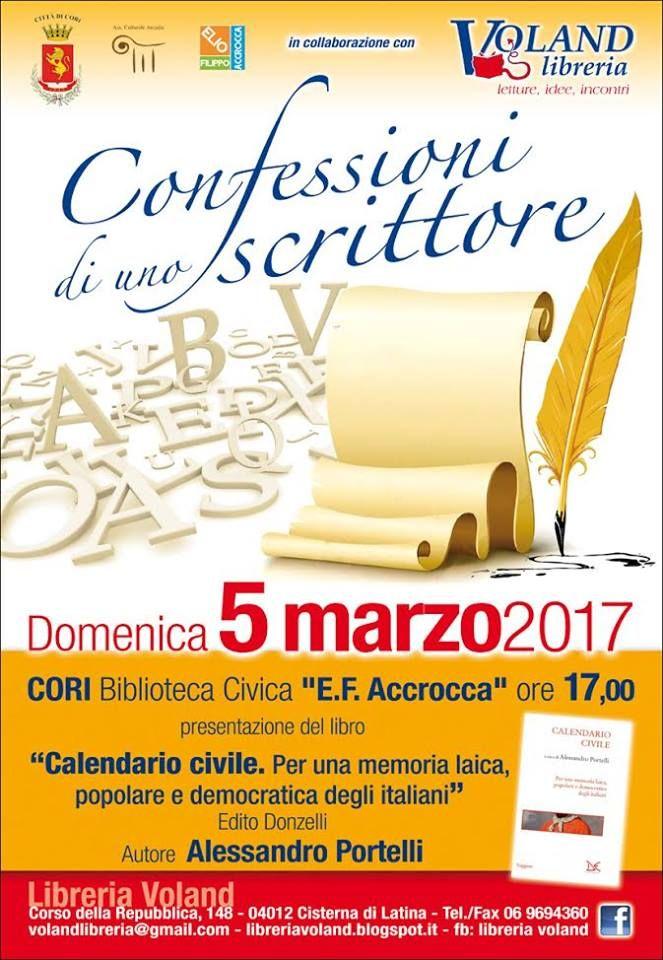 Domenica 5 Marzo, alle ore 17:00, presso la Biblioteca civica 'Elio Filippo Accrocca', uno dei padri fondatori della storia orale