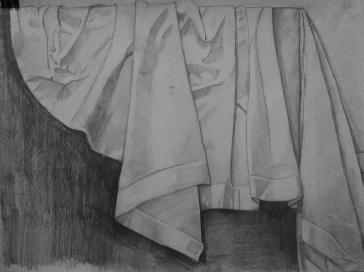 #3D #6 hours #drawing #pencil #cloth