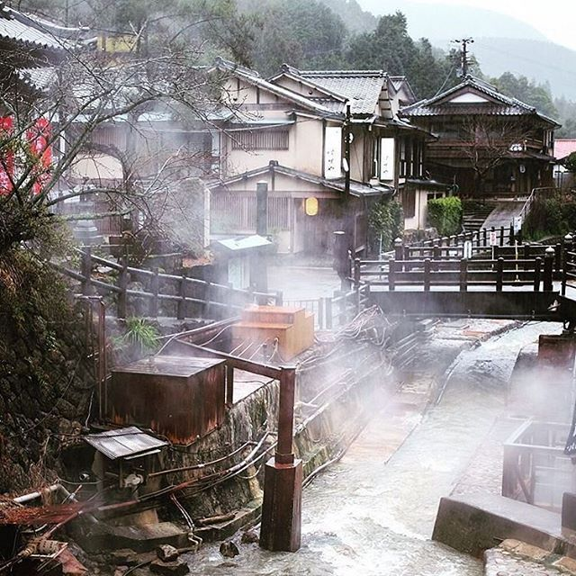 Steam rises above Yunomine onsen village, on the Kumano Kodo pilgrimage trail. Have you had an onsen experience in Japan? #VisitJapanAU #JapanRevealed : @repeattraveller