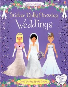 """This """"Sticker Dolly Dressing Weddings"""" from Usborne Books & More with Jess Behlmann is the PERFECT gift for your flower girl! #flowergirl #wedding #usborne"""