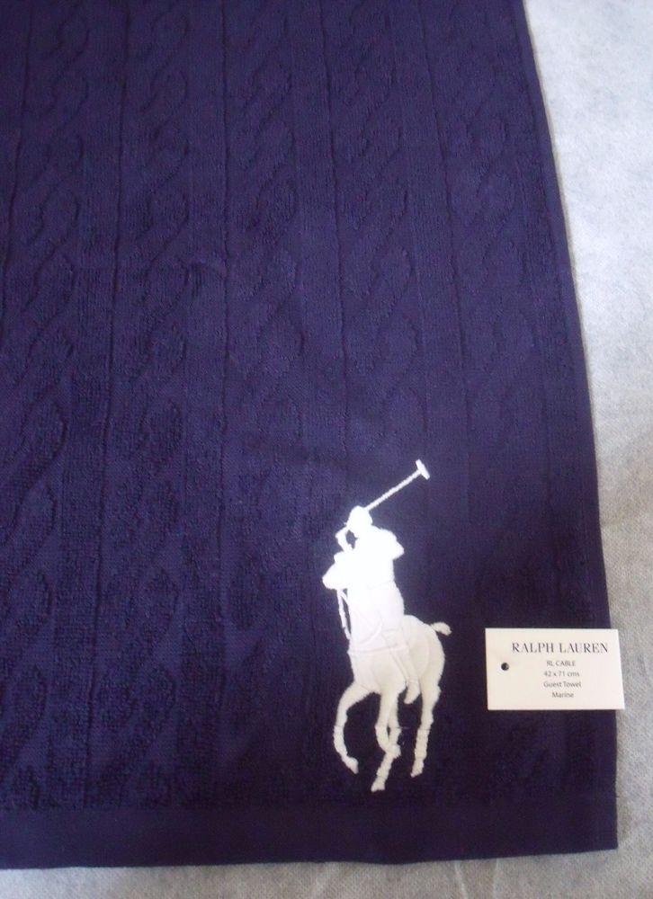 Polo Ralph Lauren Big Pony Designer Blue Guest / Gym Towel - BNWT - Gift Idea  | eBay