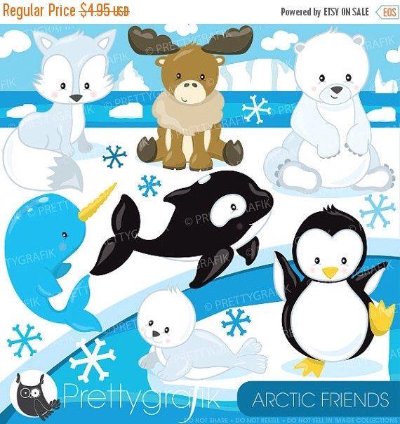 80% OFF SALE Arctic animal clipart commercial use, polar bear vector graphics, penguin digital clip art, digital images - CL783 by Prettygrafikdesign on Etsy https://www.etsy.com/listing/218653873/80-off-sale-arctic-animal-clipart