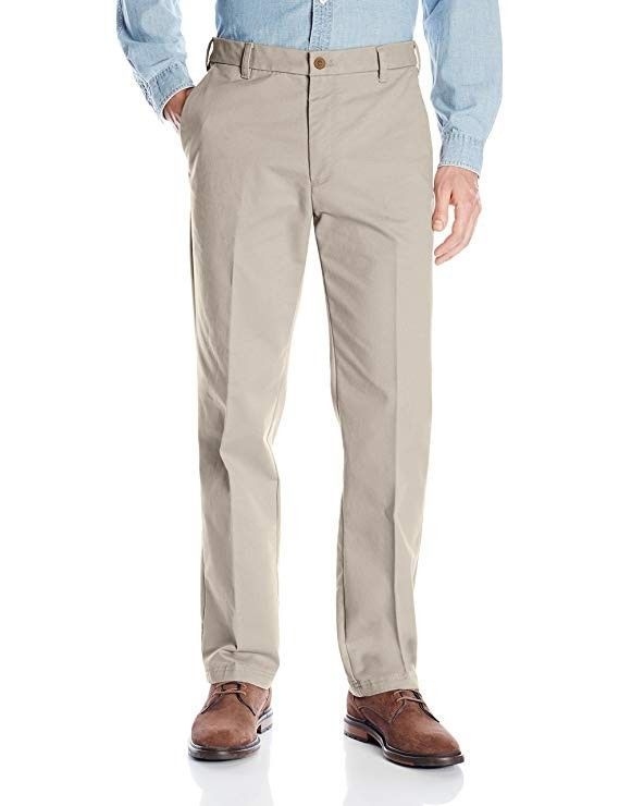NWT Men/'s IZOD Flat Front Straight Leg Stretch Chino Dress Pants SportFlex Waist