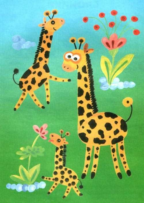 Zvířata Afriky - poučit barvy pro děti