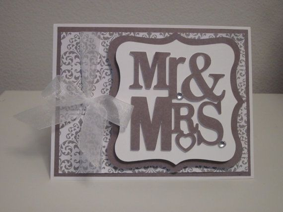 Mr. & Mrs. Wedding/Wedding Shower Card by CraftsOli on Etsy, $4.50