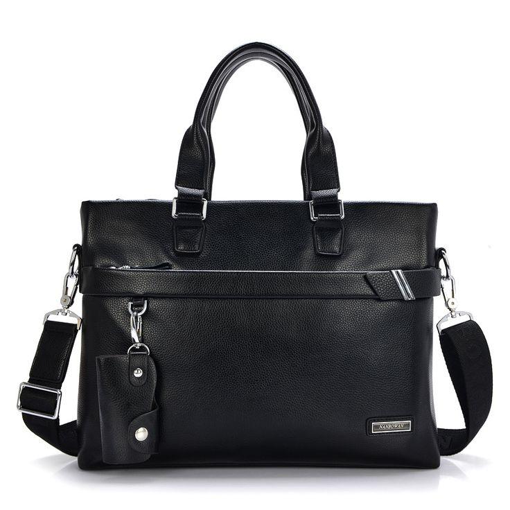 PHEHDERA Brand 2017 Hot Men Leather Briefcase Shoulder Bags Classic Black Brown Male Business Handbag Vintage Computer Laptop