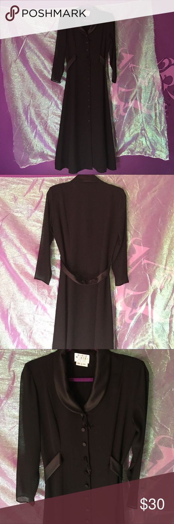 Black mesh robe cover up size 10petites vintage Back at it again with the goth witch vibes. I love this long coverup/robe  with mesh sleeves. Buttons up the front. Size 10P. LINK IN BIO!!! #robe #coverup #mesh #black #witch #goth #emo #coat #sexy #lingerie #davidwarren #petites #womensfashion #womensclothing #womensdress #long #forsale #depop #poshmark #vintes #buttonup #black #queen #smallbusiness #blackowned david warren Intimates & Sleepwear Robes