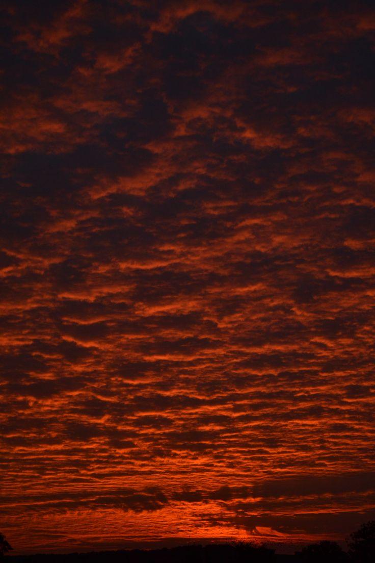 Sunset in Much Birch, Herefordshire