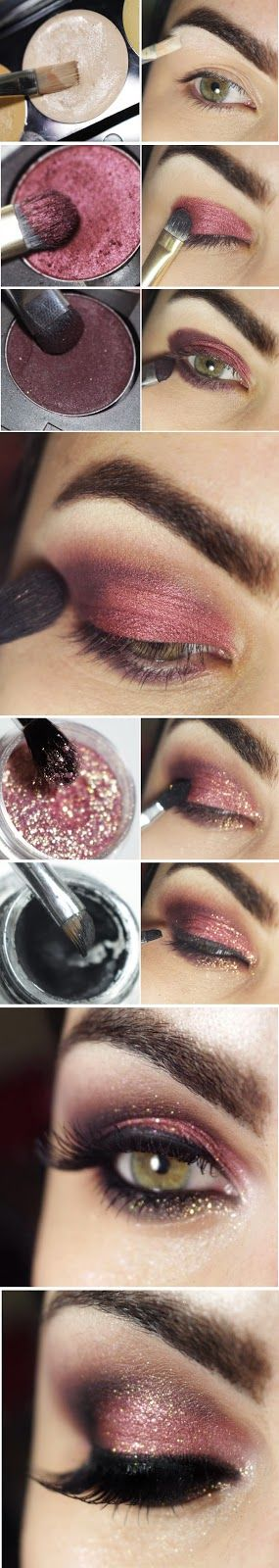 Pink and Wine Makeup Tutorials - definitely toned down a little bit but like this look