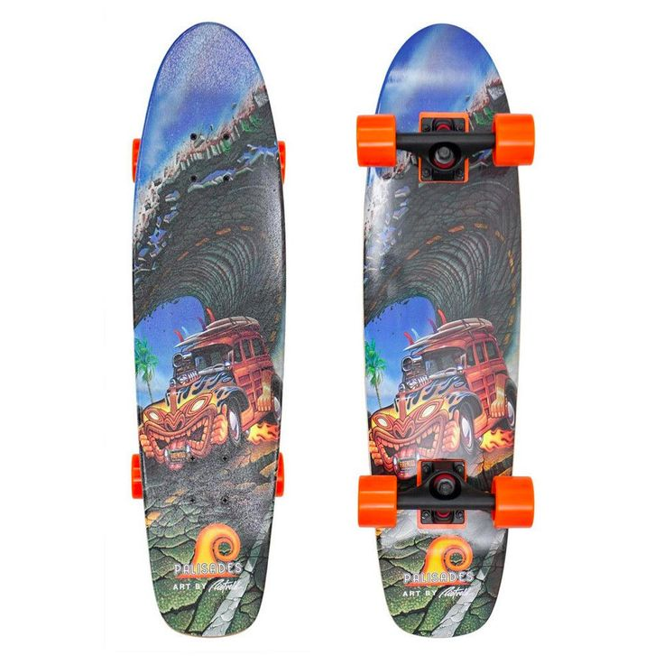 palisades shake n bake mini cruiser longboard complete. Black Bedroom Furniture Sets. Home Design Ideas