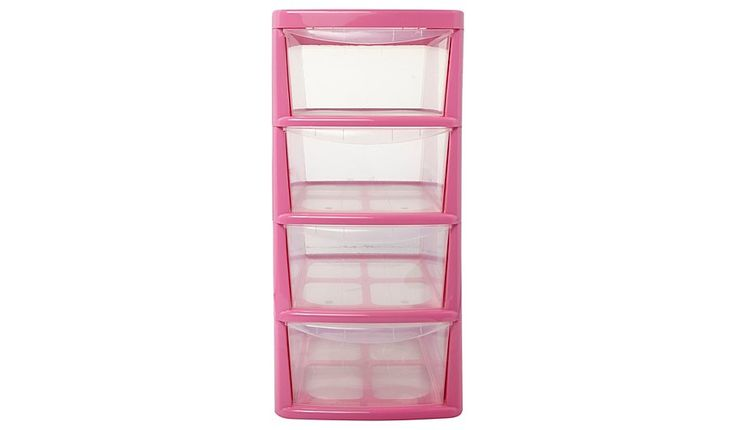 Thumbs Up Pink 4 Drawer Storage Unit, read reviews and buy online at George at ASDA. Shop from our latest range in Home & Garden. Large deluxe drawer tower w...