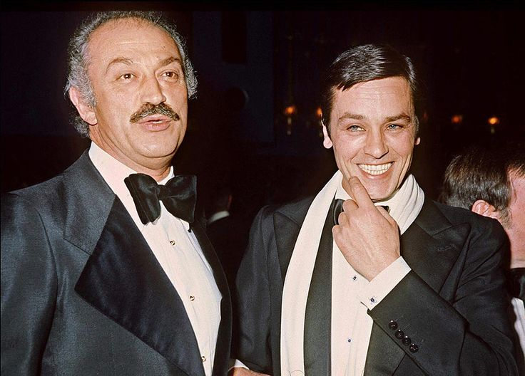 Alain Delon et Jacques Medecin - Maire de Nice - 1976 © Photo sous Copyright