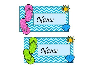 Hello Sunshine! (Editable Nameplates & Locker Tags)