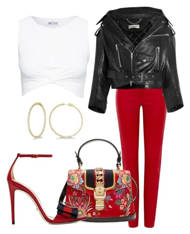 """""""Untitled #32"""" by distressqn on Polyvore featuring Loewe, Gucci, Allurez and Balenciaga"""
