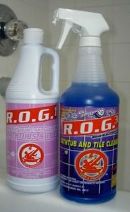 R.O.G. Nos. 1 and 3 bathtub and tile cleaner review {on Stain Removal 101}