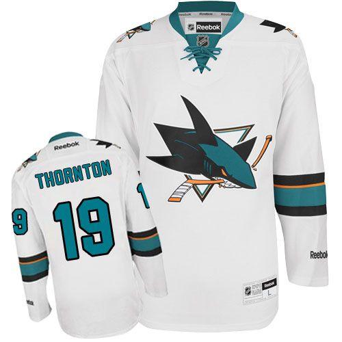 Authentic Tommy Wingels White Men's NHL Jersey: San Jose Sharks Reebok Away