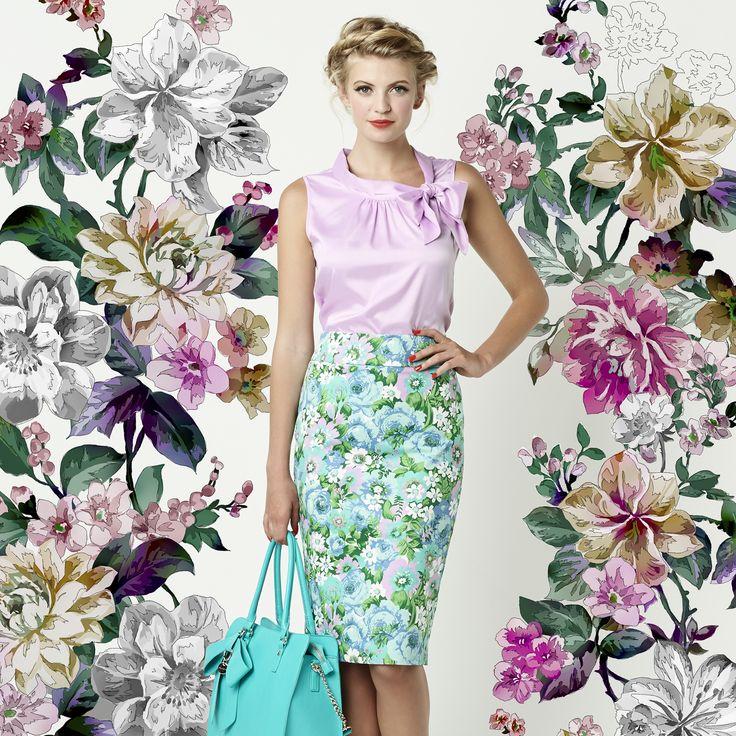 The Royce Top & Pastel Flower Skirt
