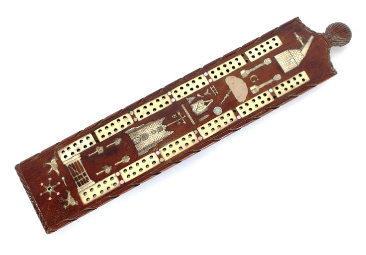 A 19th Century wooden ivory and mother of pearl de