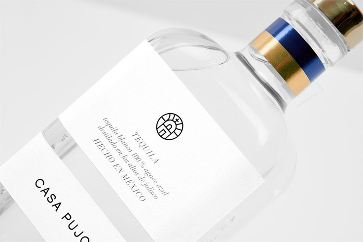 Tequila Casa Pujol 87. Label Detail. Design by www.anagram.com