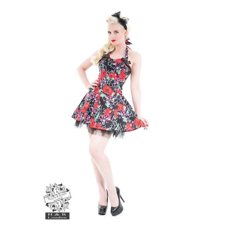 Pink Skull Mini Dress
