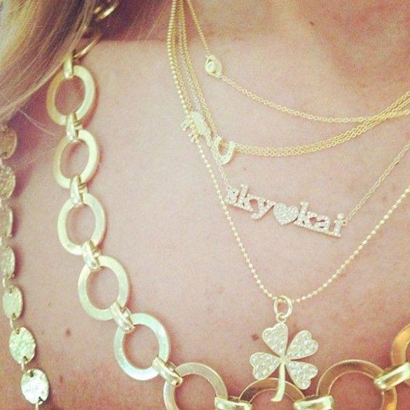 Rachel Zoe took to Instagram to show off her beautiful Jen Meyer jewelry