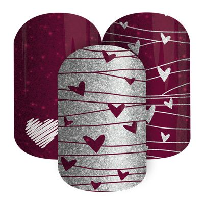 Love Spell  nail wraps by Jamberry Nails  Limited edition! Available NOW at http://www.amyengel.jamberrynails.net/category/fashionably-festive