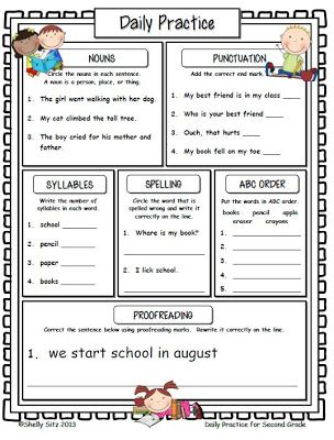 Smiling and Shining in Second Grade: Daily Practice for Second Grade...Absolutely love this!! Purchased this and use it in my classroom daily!