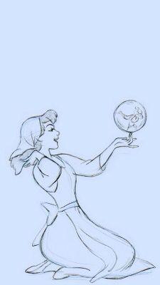 Disney's Cinderella Sketch Concept Art iPhone Background Wallpaper