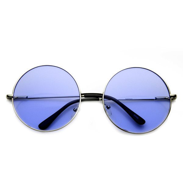Indie Festival Hippie Oversize Round Colorful Lens Sunglasses 9580 ($9.99) ❤ liked on Polyvore featuring accessories, eyewear, sunglasses, glasses, oversized circle sunglasses, round sunglasses, hippie sunglasses, circle sunglasses and summer sunglasses
