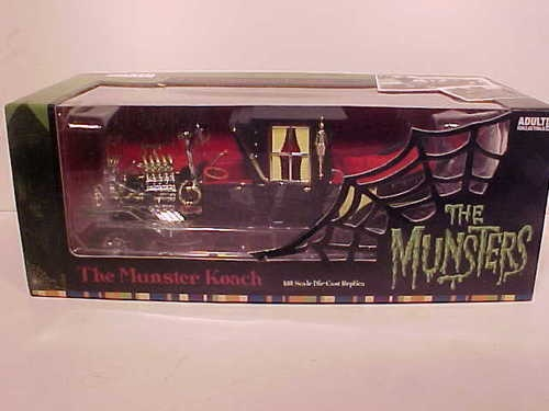 Cars 2 Movie >> Herman Mobile Munsters TV Series The Munster Koach 1 18 Diecast Model Car   The Monster Mash ...
