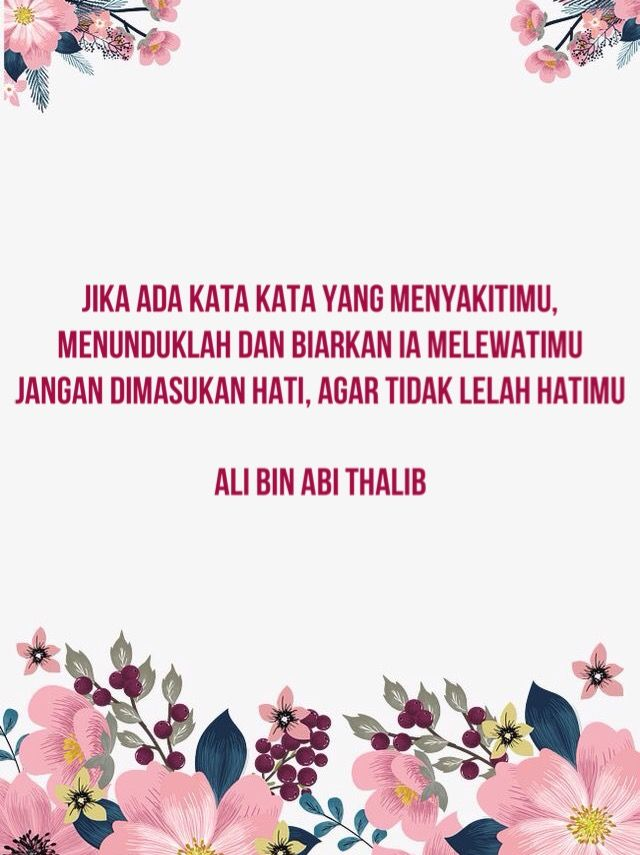 Sayyidina Ali Bin Abi Thalib Said Kutipan Terbaik Motivasi