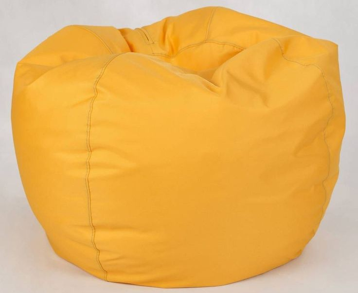 INDOORS AND OUTDOORS BEAN BAG WITH FLOWERS - POUF WITH HANDLE FOR CHILDREN AND TEENEGER - Modern Great Bean Bag for the lounge room, play room or the bedroom - For the Deck, Patio and the Rest of the Garden - Family pillow fights - RELAXING - PLAYING - Kids room accessories - Yellow Bean Bag
