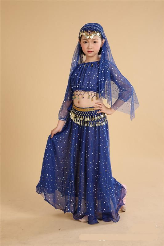 1754a5c95 Kids Belly Dancing clothes Oriental Dance Costume Indian Costumes ...