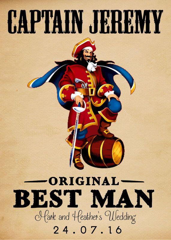Whiskey Label Be My Best Man Rum Label PRINTABLE