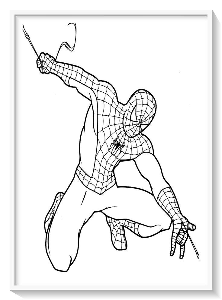 Dibujos del hombre araña para colorear online, imprimir y pintar. Pin on Dibujos de SPIDERMAN (Hombre Araña) para Colorear