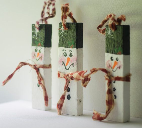 Hand Painted Wooden Tobacco Stick Christmas by RobinReneArt, $4.95