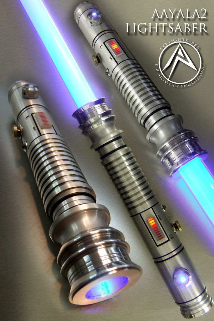 Custom made LIGHTSABERS - gorgeous. Though I'm pretty sure Setele used a blue crystal.