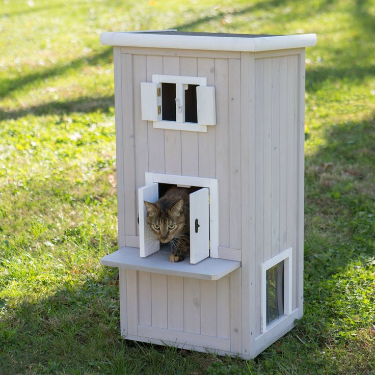Precision Boomer & George Nantucket Outdoor Cat Home - 37018FD