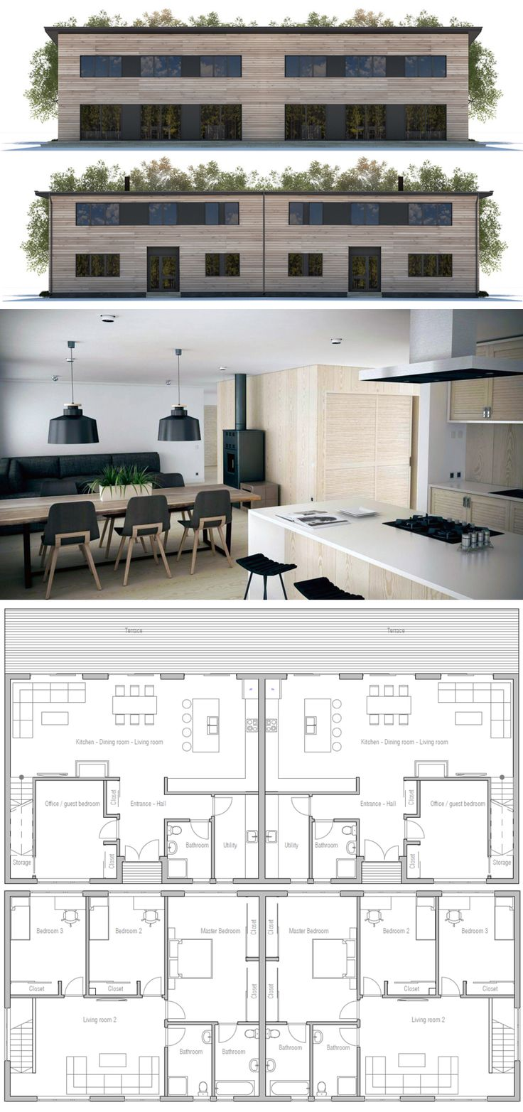 82 best duplex fourplex plans images on pinterest for Plan maison duplex