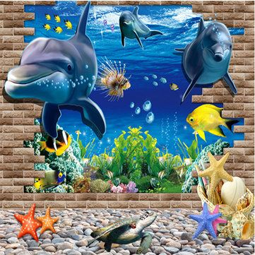3D Blue Sea World Dolphin Removable Wall Sticker Wallpaper Home Decor //Price: $9.98 & FREE Shipping //     #wallstickerforbedroom #wallstickerforlivingroom #wallstickerforkids #wallstickerforkitchen #3Dwallsticker #removeablewallsticker #treewallsticker ##3wallstickers#3dbutterflywallstickers #3dmirrorwallstickers #3dwallsticker #3dwallstickermalaysia #3dwallstickers #3dwallstickersamazon #3dwallstickersaustralia #3dwallstickersbeach #3dwallstickersebay #3dwallstickerspakistan…