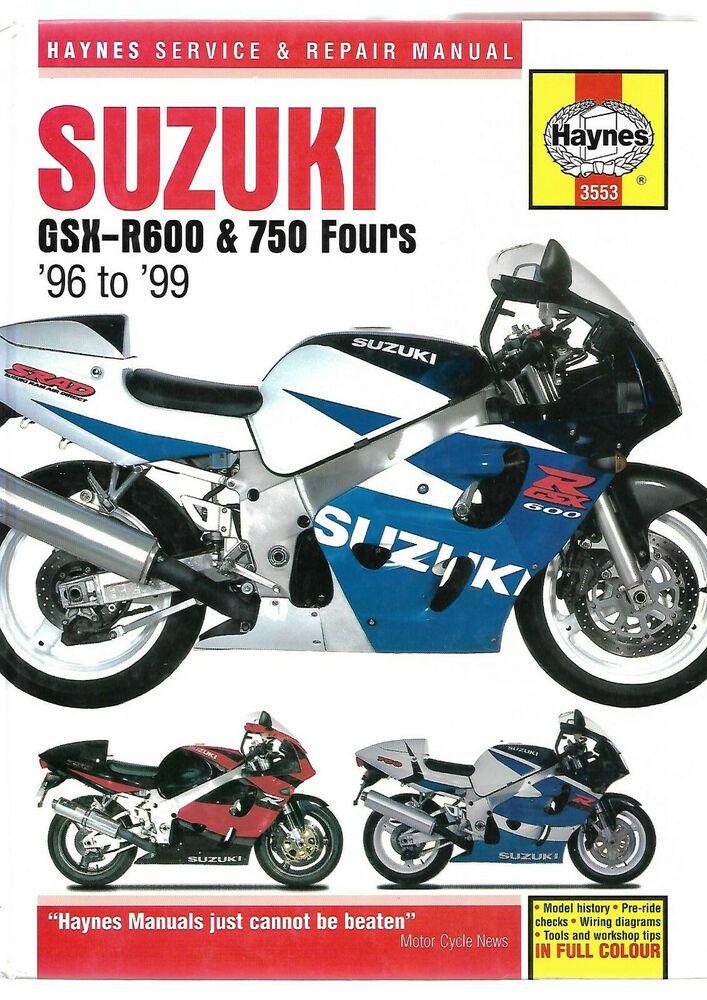 Haynes Suzuki Gsx R600 Gsx 750 Fours Service And Repair Manual V W X T 600 749cc Suzuki Suzuki Gsx Suzuki Gsx