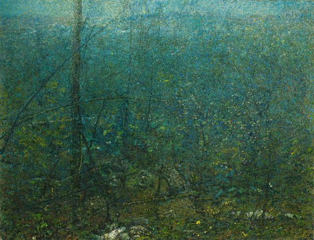 Nel bosco, 2010, cm 140x182.