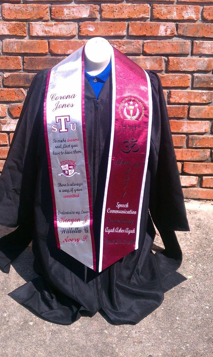 pvamu graduation stoles - Google Search                                                                                                                                                     More
