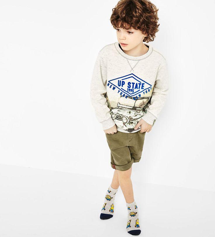 Printed text sweatshirt-SWEATSHIRTS-BOY | 4-14 years-KIDS | ZARA United States