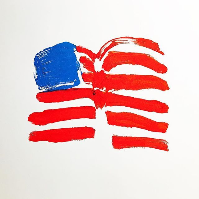 """Make America Great Again   Part of the """"Flag Series"""" untitled - 2005"""