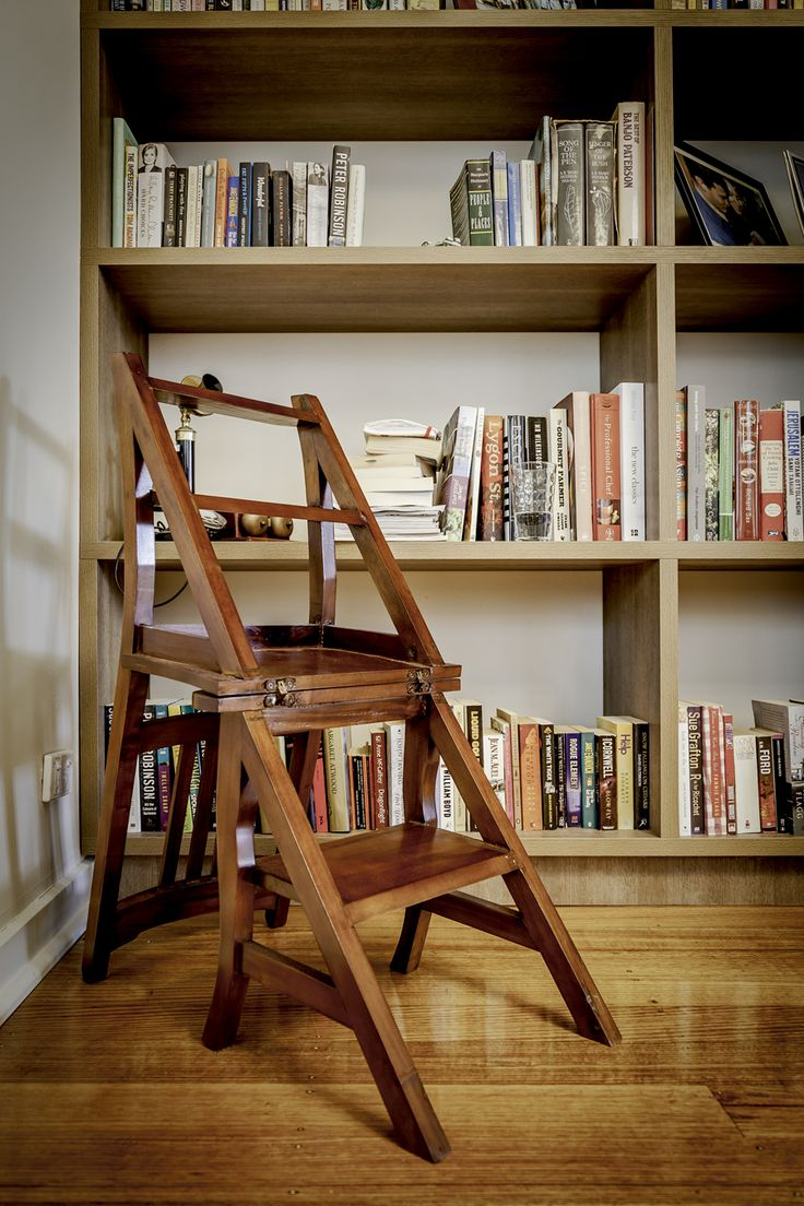 I just love this timber step ladder.