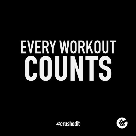 Every workout counts. #fitness #quote #motivation #gym #workout #supplements #sports