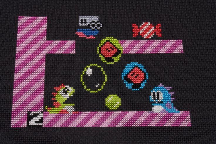 [FO] Bubble Bobble is done! : CrossStitch