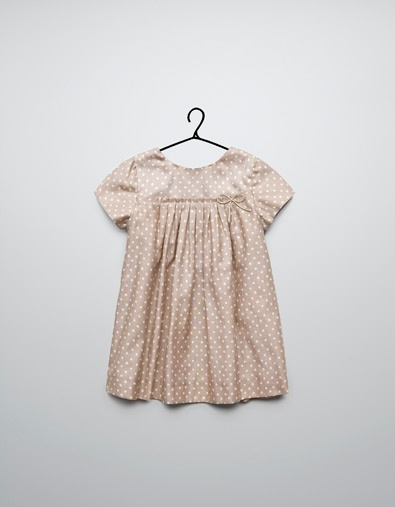 polka dot print dress - Dresses - Baby girl (3-36 months) - Kids - ZARA Romania